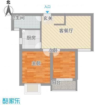 水泥机械厂宿舍52.00㎡水泥机械厂宿舍2室户型2室