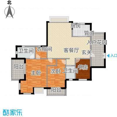 洪客隆地中海阳光153.16㎡EA3奇数层三房两厅两卫153.16㎡户型3室2厅2卫1厨