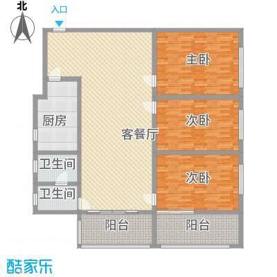 京东小区F区208.00㎡京东小区F区3室户型3室