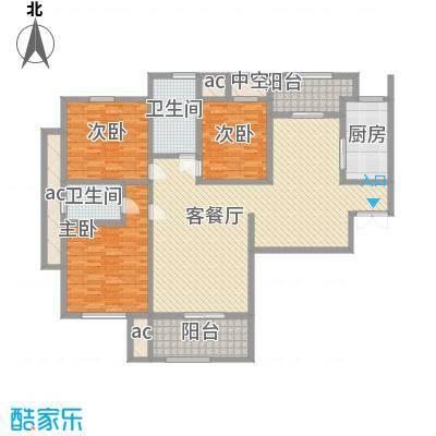 京东小区F区208.00㎡京东小区F区6室户型6室