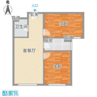 东亚上北中心84.09㎡12号楼C2反户型2室1厅1卫1厨