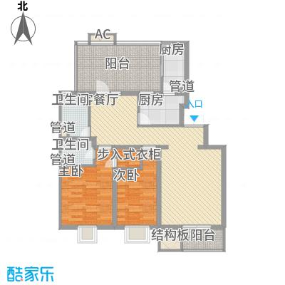 大宁山庄别墅C-3,D-3顶户型2室2厅2卫1厨