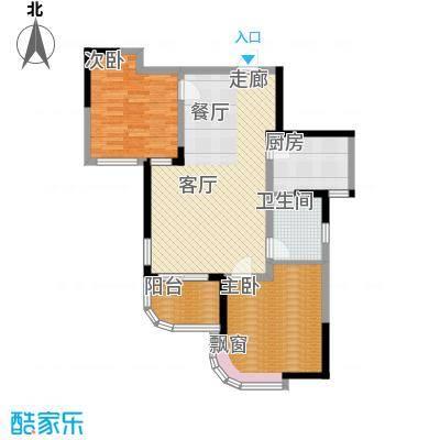 丰和新城86.00㎡南苑2期D1-2B户型2室2厅1卫1厨