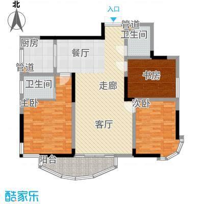 丰和新城114.63㎡C2户型3室2厅2卫1厨