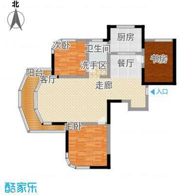 丰和新城115.00㎡南苑2期D1-2A户型3室2厅1卫1厨