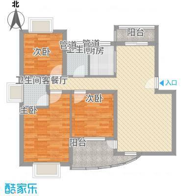 枫庐新天地105.00㎡枫庐新天地3室户型3室