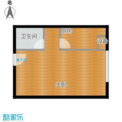 润枫欣尚57.00㎡B户型1室1卫1厨