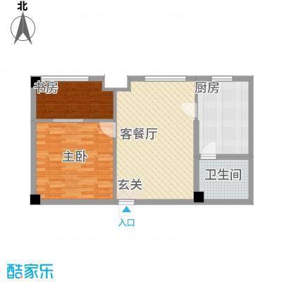 金桥慧景70.80㎡酒店式公寓J1户型2室1厅1卫1厨