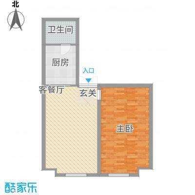 金桥慧景67.90㎡酒店式公寓G1户型2室1厅1卫1厨