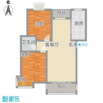 金桥慧景90.00㎡多层A3户型2室2厅1卫1厨