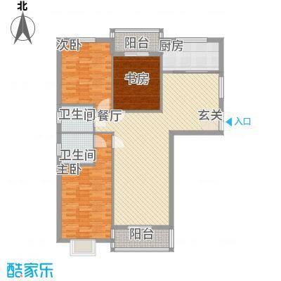 美罗嘉苑137.21㎡多层C户型3室2厅2卫1厨