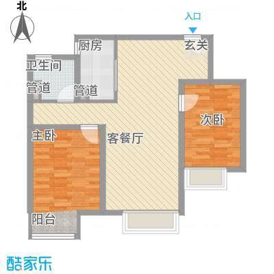 金域缇香G户型约91平米户型10室