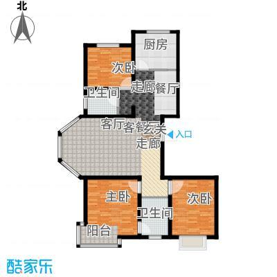 汇豪山水华府118.00㎡12号楼F-1户型3室2厅2卫1厨