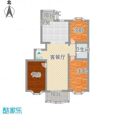 京南嘉园114.29㎡户型3室2厅1卫1厨