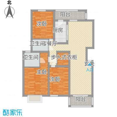 佳世苑小区119.69㎡4号楼D户型3室2厅2卫1厨