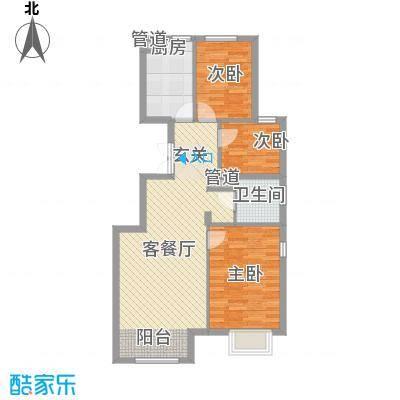 北京城建・世华龙樾100.00㎡D户型2室1厅1卫1厨