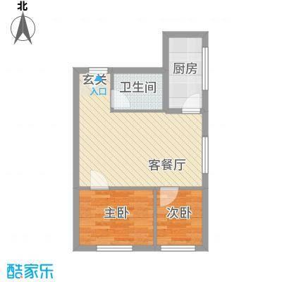 海淀区吴家场项目67.84㎡B5-1户型2室1厅1卫1厨