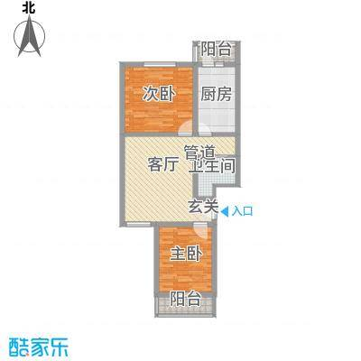 金鑫苑92.00㎡09户型2室1厅1卫1厨