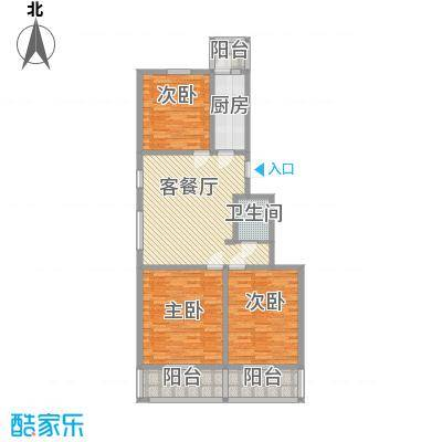 天泰新景温泉小区126.49㎡舒适大三居户型3室1厅1卫1厨