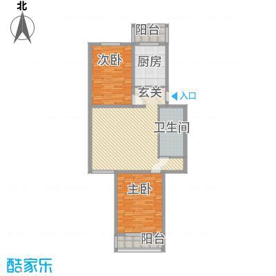 天泰新景温泉小区91.05㎡A户型2室2厅1卫1厨