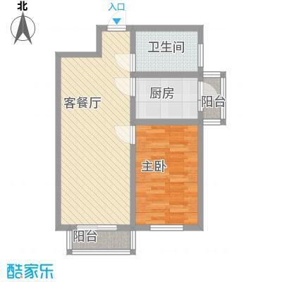 天泰新景温泉小区68.89㎡浪漫一居户型1室1厅1卫1厨