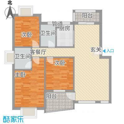 昌北财大宿舍112.00㎡昌北财大宿舍3室户型3室