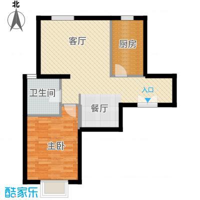 京贸国际城81.13㎡E4a户型1室1厅1卫1厨