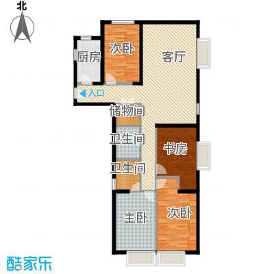 京贸国际城156.83㎡4号楼A反户型4室1厅2卫1厨