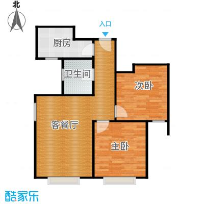 京贸国际城89.37㎡3#楼-D反户型2室1厅1卫1厨