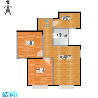 京贸国际城71.54㎡3#楼-D1反户型2室1厅1卫1厨