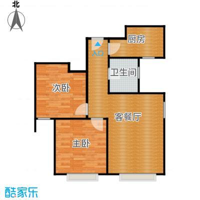 京贸国际城89.48㎡3#楼-D户型2室1厅1卫1厨