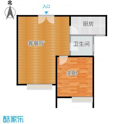 京贸国际城68.58㎡3#楼-C户型1室1厅1卫1厨