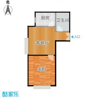 京贸国际城63.33㎡3#楼-B户型1室1厅1卫1厨