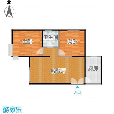 京贸国际城80.20㎡3#楼-A1户型2室1厅1卫1厨