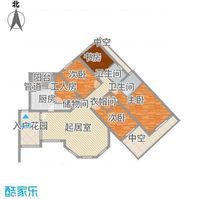 珠江国际城别墅176.35㎡L2户型4室2厅2卫1厨
