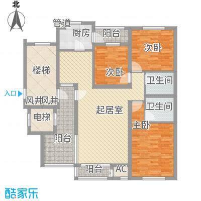 珠江国际城别墅149.93㎡E2户型3室2厅2卫1厨
