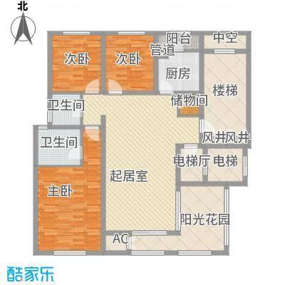 珠江国际城别墅121.80㎡G4户型(错层)户型3室2厅2卫1厨