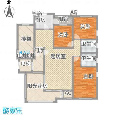 珠江国际城别墅156.76㎡E3户型3室2厅2卫1厨