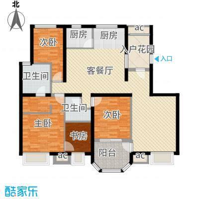 龙湖西小马项目170.00㎡洋房户型3室2厅2卫2厨