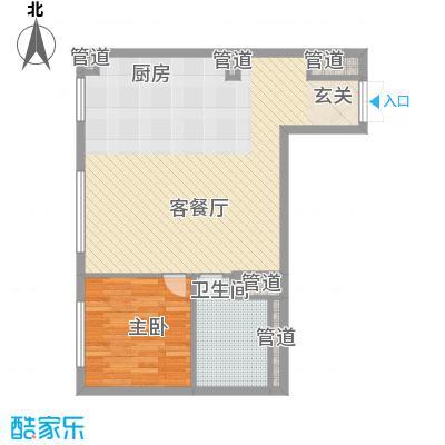 北京ONE78.11㎡1-C户型1室1厅1卫1厨