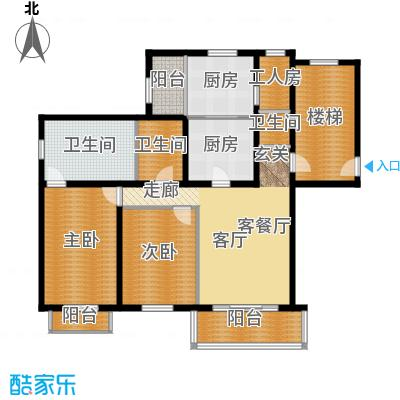 富泉花园公寓129.81㎡富泉花园公寓户型图雅典园D3-2平层-22室2厅2卫1厨户型2室2厅2卫1厨