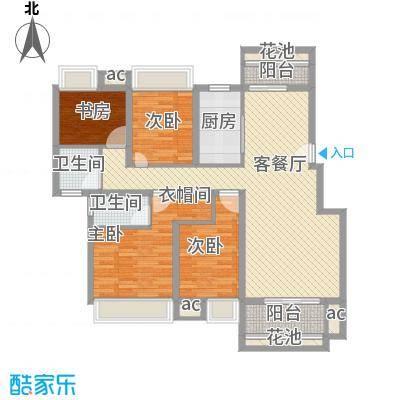 东投阳光城139.69㎡BC1户型4室2厅2卫1厨