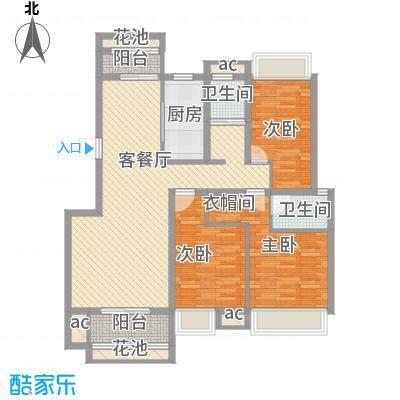 东投阳光城129.22㎡BC户型3室2厅2卫1厨