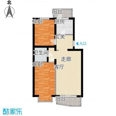 西上园小区B户型2室1厅1卫1厨