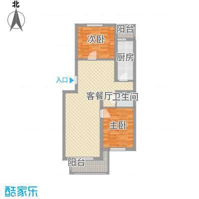 西上园小区91.26㎡户型2室2厅1卫1厨
