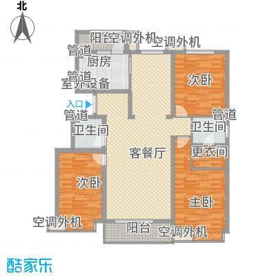 正源・尚峰尚水源墅153.37㎡G户型3室2厅2卫1厨