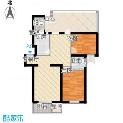大宁山庄别墅(大宁湾)丁区D4户型2室2厅1卫1厨