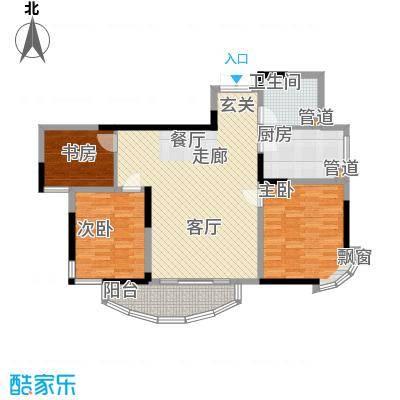 丰和新城103.94㎡C5户型3室2厅1卫1厨