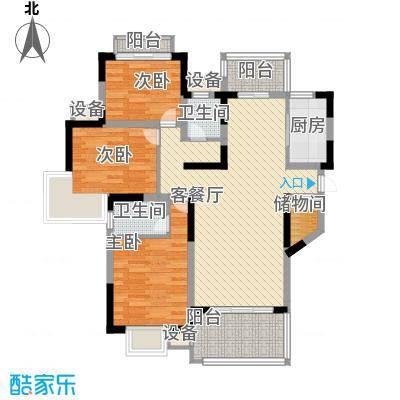 枫庐新天地110.00㎡枫庐新天地3室户型3室