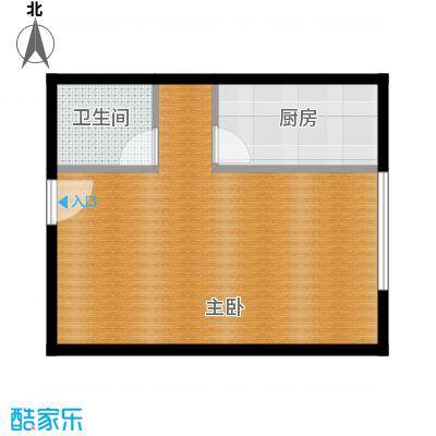 润枫欣尚57.00㎡1、2、5号楼B户型1室1卫1厨